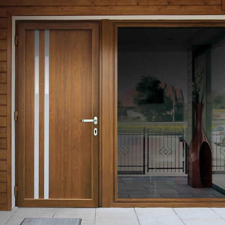 porta blindata bari marrone